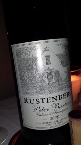 Peter Barlow wine, Rustenberg