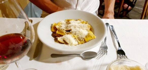 Agnolotti with sugo