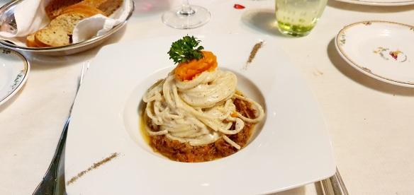 Spaghetti Cacio e Pepe, L'Antica Trattoria, Sorrento