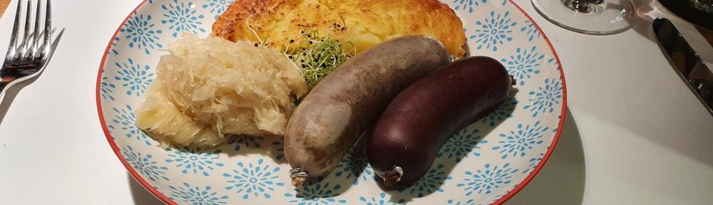 August Zurich, Blood and liver sausage, Rösti