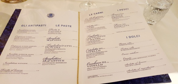 Il Gattopardo Zurich, menu card