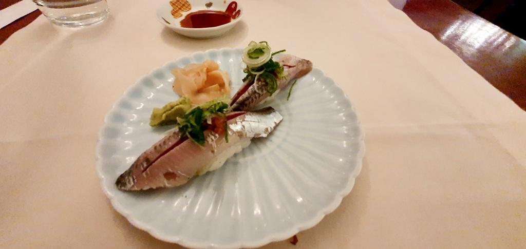 Sushi of sardines