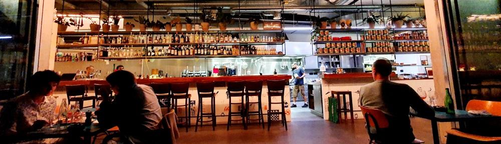 Bar area and restaurant